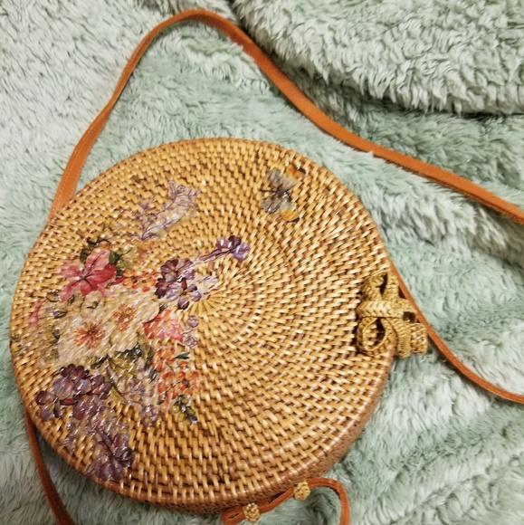 Bags Round Painted Bali Bag Poshmark